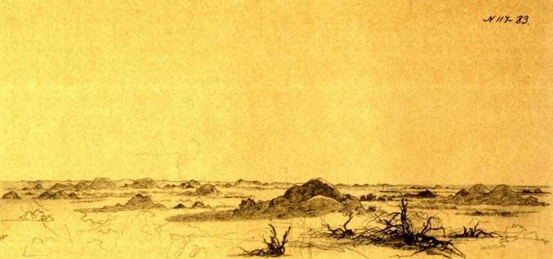 Taras Shevchenko. Hillocks in desert