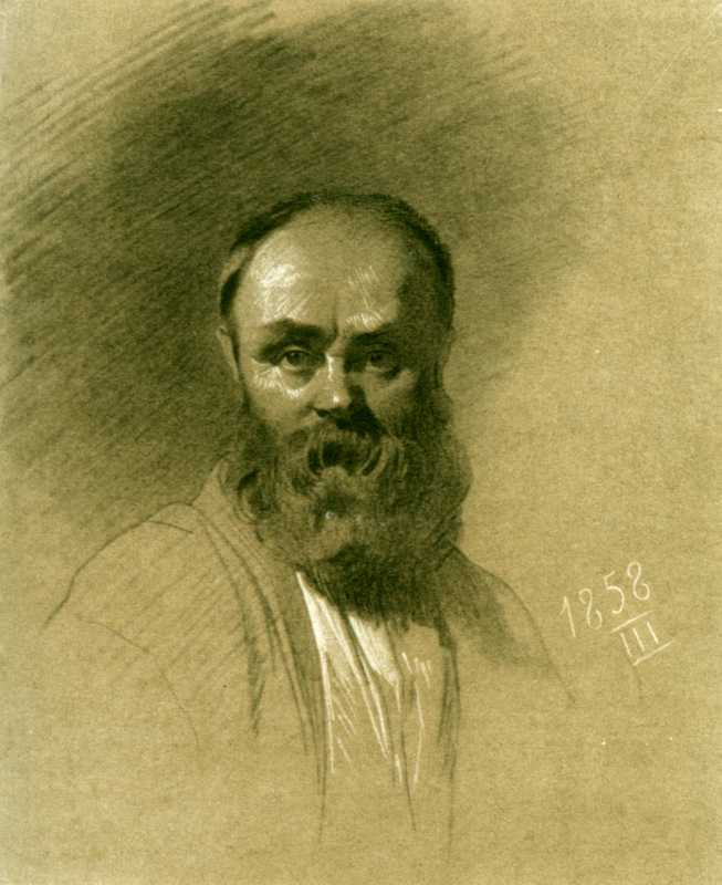 Taras Shevchenko. Self-portrait 1858