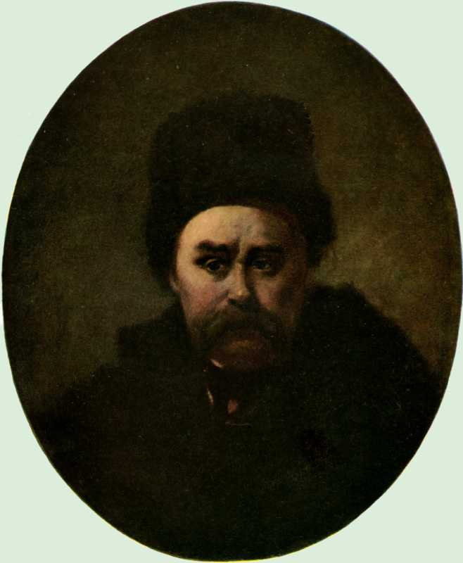 Taras Shevchenko. Self-portrait 1861