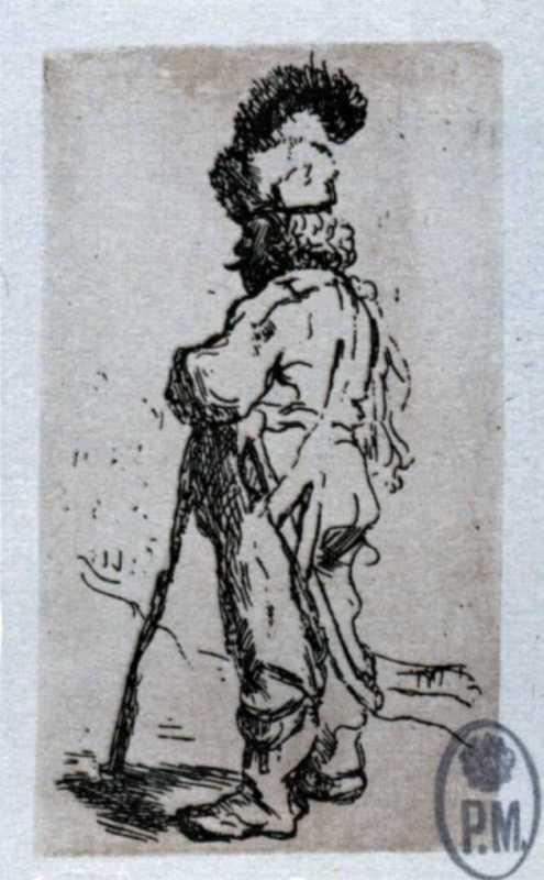 Тарас Шевченко. Поляк з шаблею і палицею