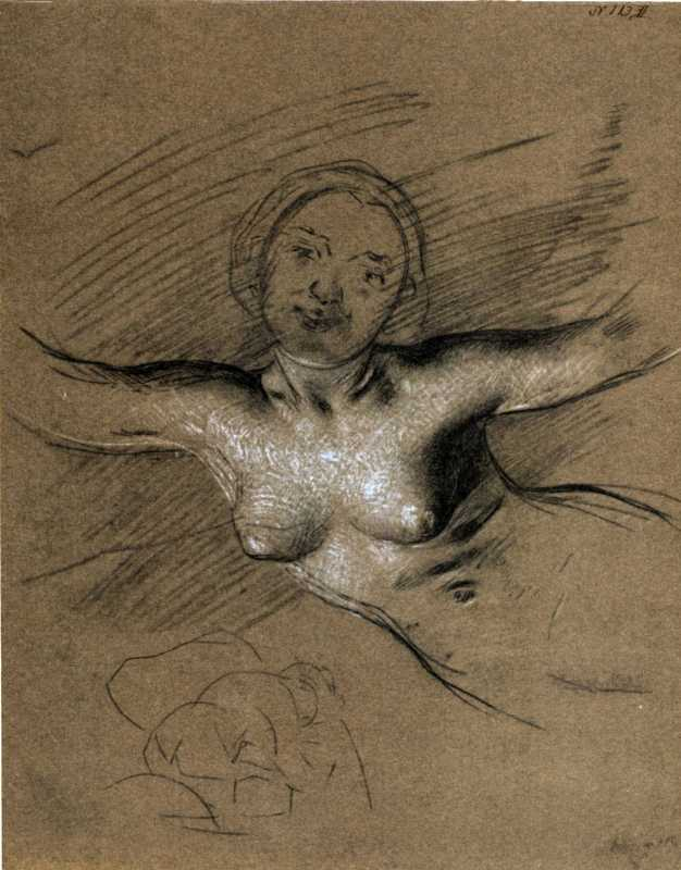 Taras Shevchenko. Mermaid. Sketch