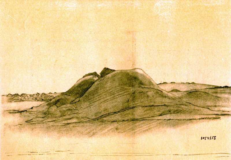 Taras Shevchenko. Over Ros river. Sketch