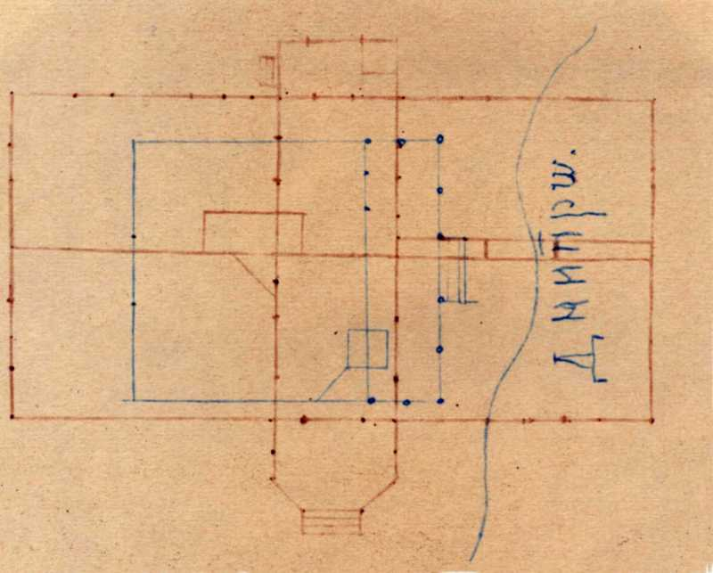 Taras Shevchenko. Pantry. Schematic plan