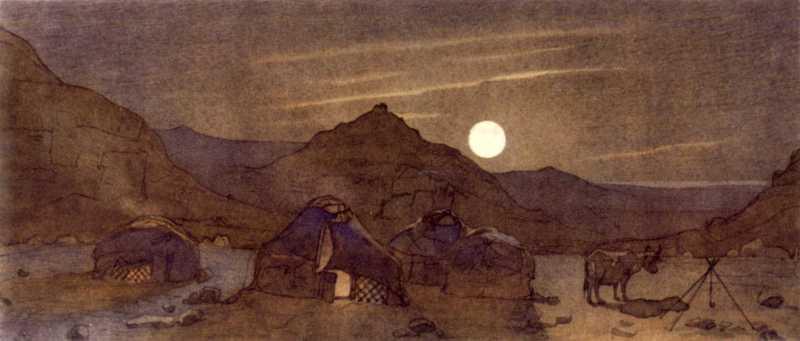 Тарас Шевченко. Місячна ніч серед гір