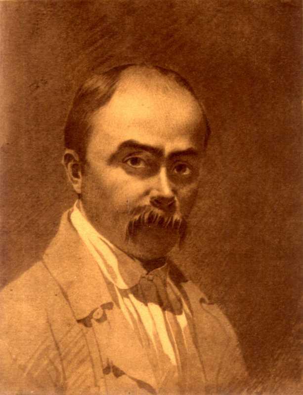 Taras Shevchenko. Self-portrait 1853
