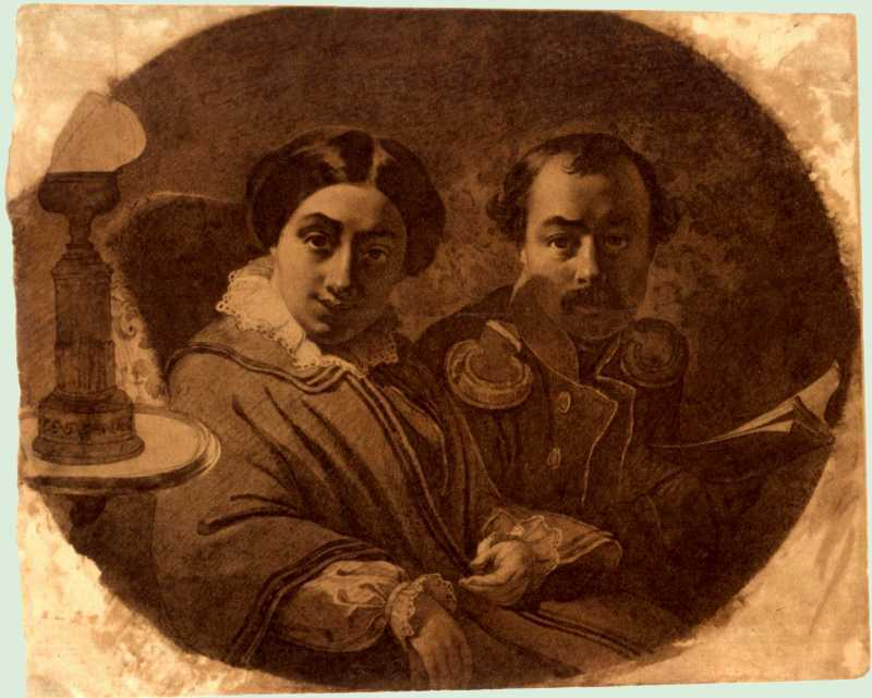 Taras Shevchenko. Portrait of a couple…