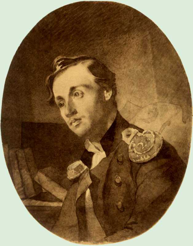 Taras Shevchenko. Portrait of an officer