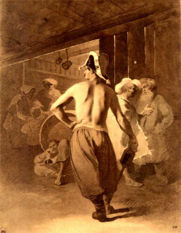 Taras Shevchenko. In the tavern