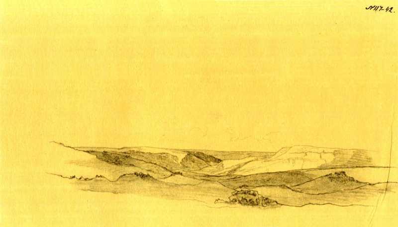 Taras Shevchenko. Mountainous landscape