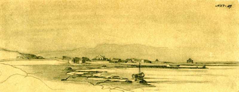 Taras Shevchenko. Near Novopetrovsk fort