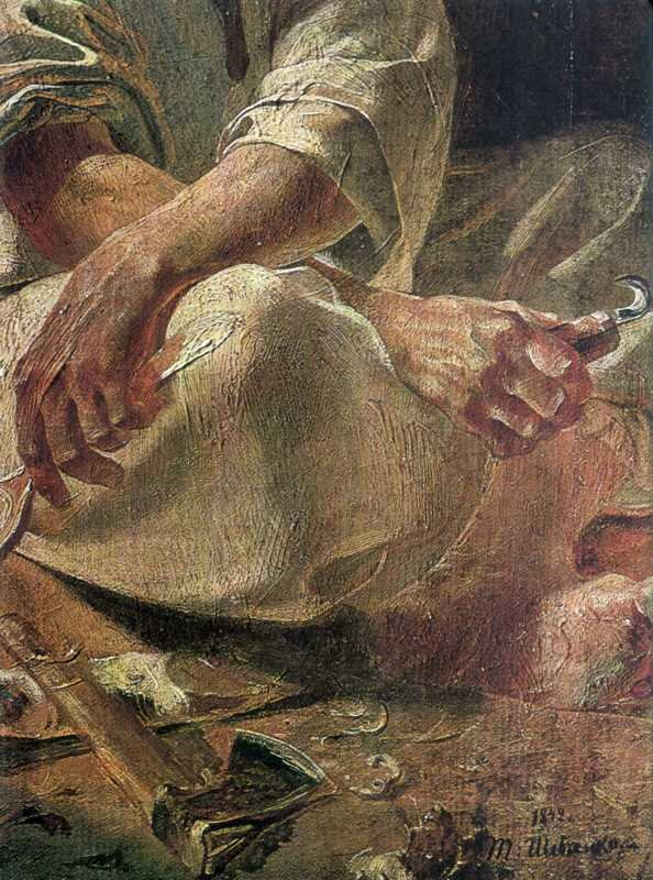 Тарас Шевченко. Руки деда. Фрагмент