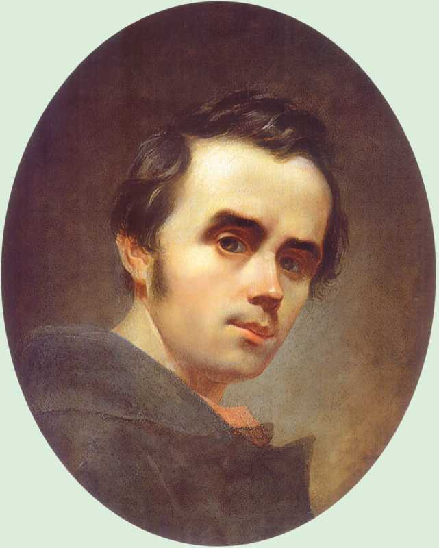 Taras Shevchenko. Self-portrait 1840