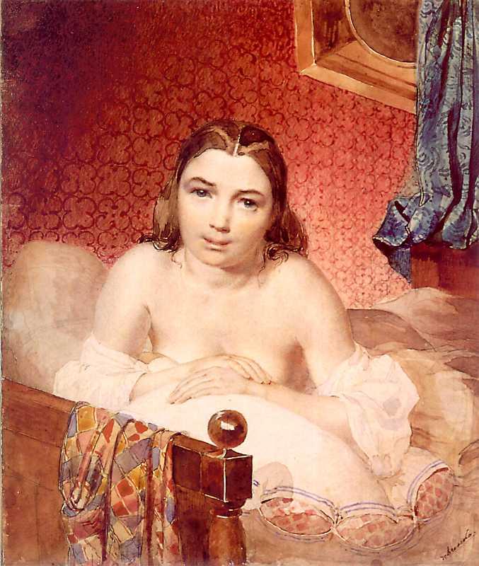 Taras Shevchenko. Woman in bed