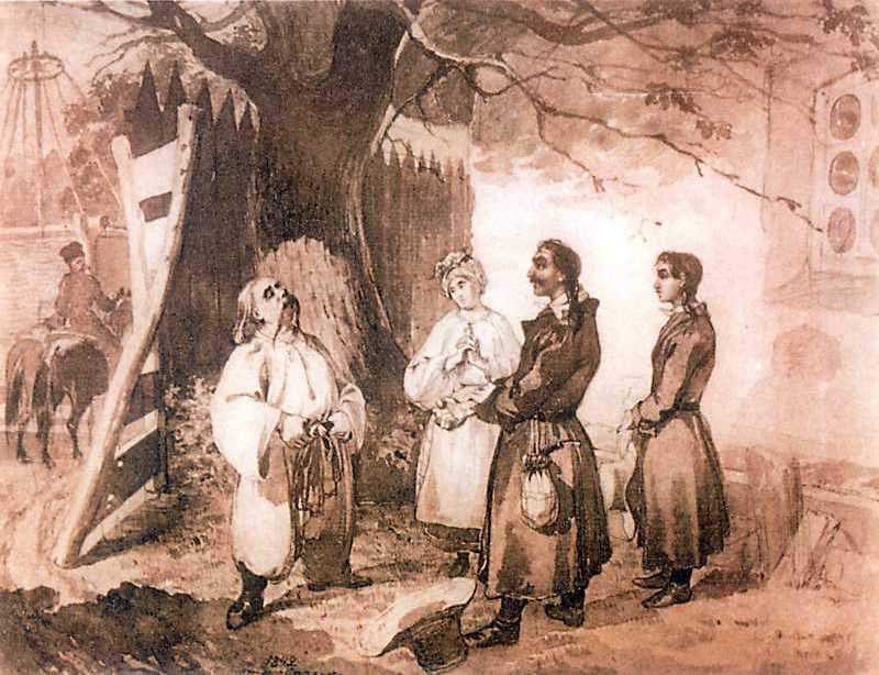 Taras Shevchenko. Meeting of Taras…