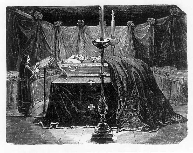 Taras Shevchenko. Suvorov in the coffin