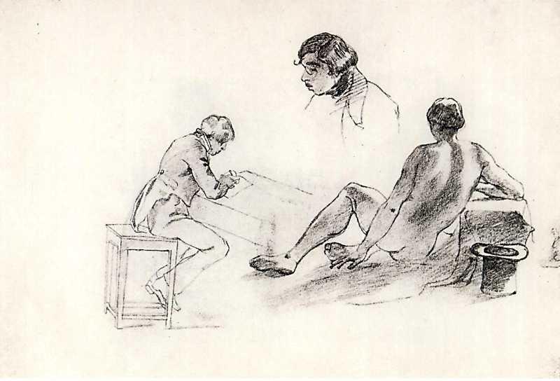 Taras Shevchenko. Sitter. Sketch 1