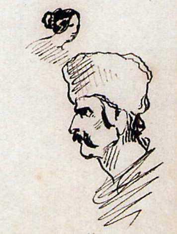 Тарас Шевченко. Голова козака у шапці.…