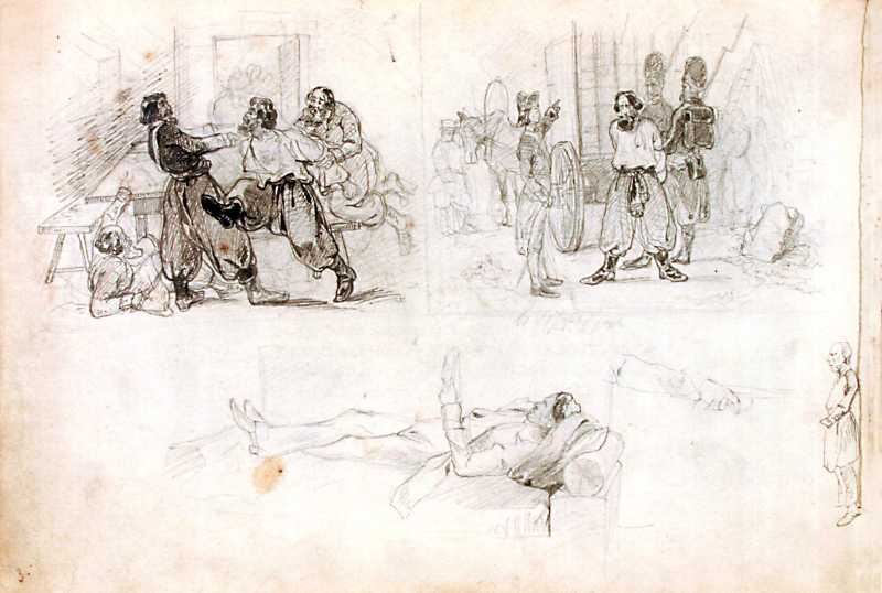 Arrest of Pugachev. Sketches