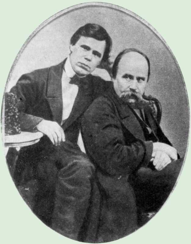 Т.Г.Шевченко і Г.М.Честахівський. Фото